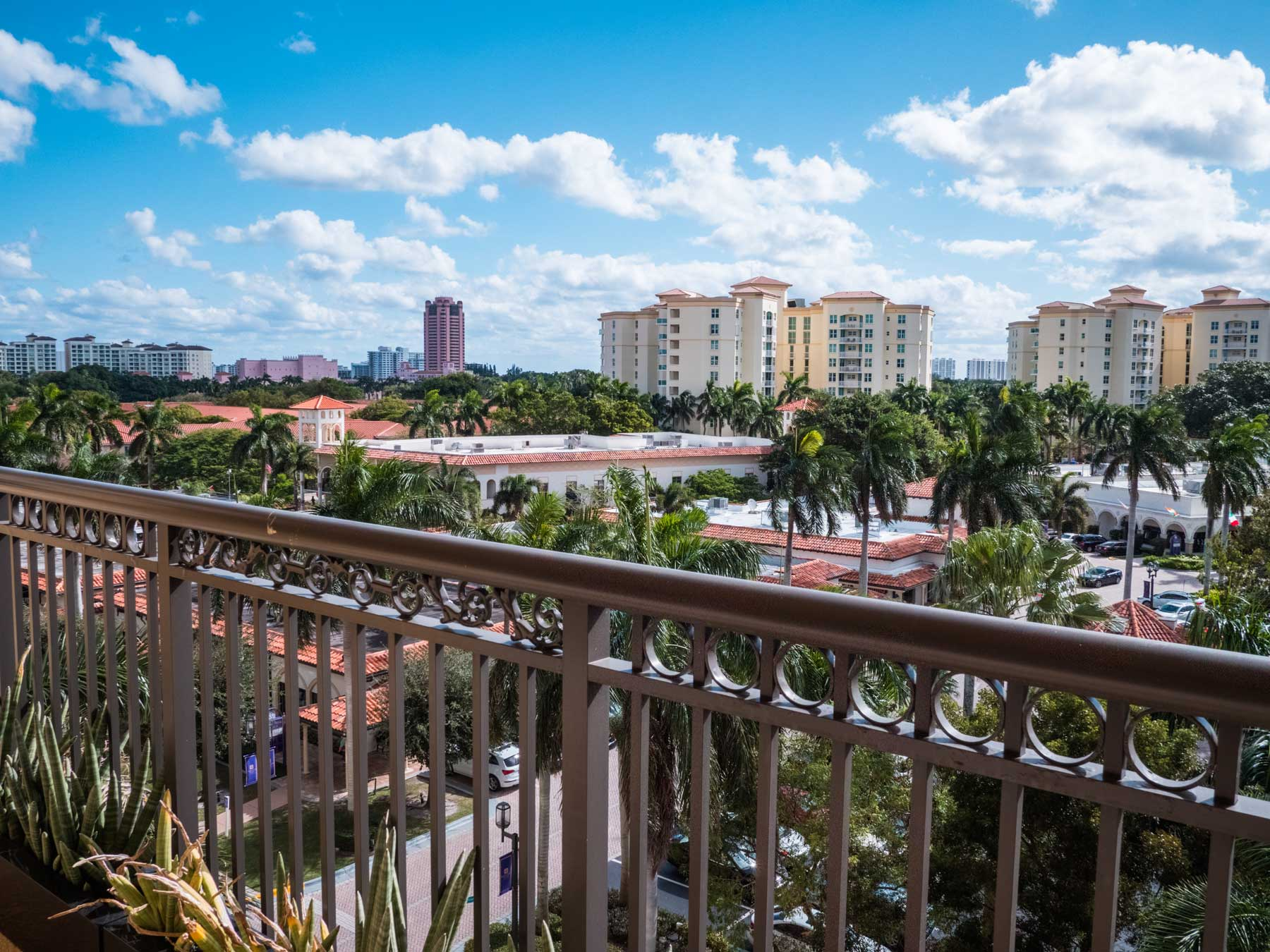 Royal Palm Place Apartment Balcony View